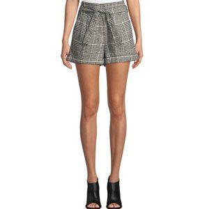 NWT Veronica Beard Michel High-Waist Plaid Shorts